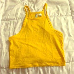 Yellow H&M croptop